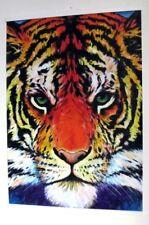 Tigre peinture coloré moderne animaux Art contemporain déco murale grand format
