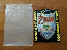 "Zelda Link's Awakening ""Now Showing"" Counter Display Sign Pop Kiosk Promo RARE"