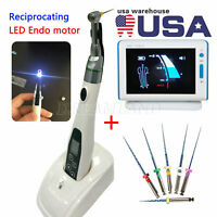 Dental Reciprocating 16:1 LED Endo Motor Contra angle /Apex Locator /Files SI