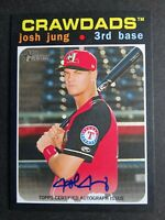 2020 Topps Heritage Minor League Josh Jung Hickory Crawdads Real One Auto Card