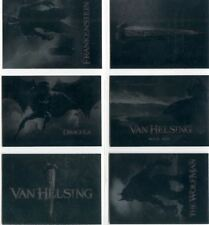 Van Helsing The Movie Complete Silver Foil Chase Card Set C1-6