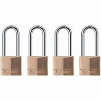 Master Lock 140QLH Keyed-Alike Wide Padlocks, Solid Brass, 1-9/16-inch,