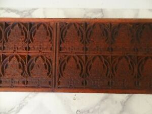ANTIQUE TIBET- MONGOLIAN BUDDHIST HAND CARVED WOODEN BLOCK FOR AMULET PRINT
