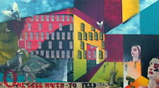ONE LESS MOUTH TO FEED MODERN POP ART 1990 MIXED MEDIA PHOTO COLLAGE PAINTING