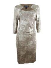 Connected Women's Metallic-Foil Sheath Dress