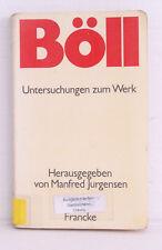 Böll Untersuchungen zum Werk Manfred Jurgensen, 1975