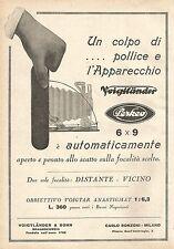W7824 Apparecchio Fotografico VOIGTLANDER Perkeo - Pubblicità del 1929 - Old ad
