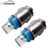 2pcs LED Lucas Type 12V Blue Bulb Warning Lamps Smiths Gauges LLB281 GLB281 BA7s