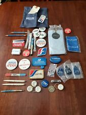 lot Of Vtg Greyhound Bus Memorabilia, Towel, Patches, Buttons, Key Tags Etc