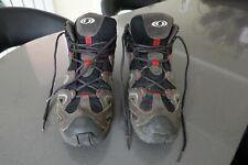 Salomon men's mid GTX Gore-tex walking hiking boots UK 10 black, grey, red
