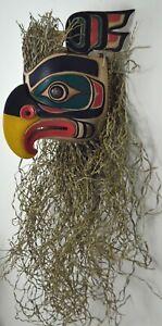 LARGE PACIFIC NORTHWEST STYLE EAGLE ART MASK ~ CANADIAN ABORIGINAL STYLE