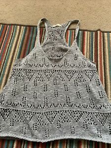 Hollister Ladies Knitted Sleeveless Top Size Large (14/16)