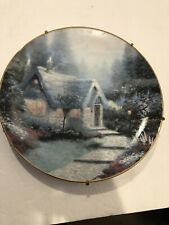 knowles collector plates Thomas Kinkade's Cedar Nook Cottage 1991 Plate #4720A