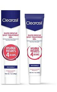 LOT OF 6 Clearasil Rapid Rescue Spot Treatment Gel 1oz New Exp. 05-04-2022
