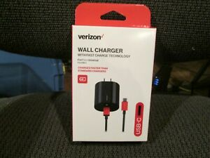 Verizon USB Type-C Wall Charger with Fast Charge Technology 6ft charge/sync cabl