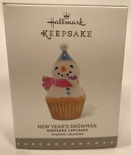Hallmark Keepsake Ornament New Year's Snowman 6th In The Cupcake Monthly Series