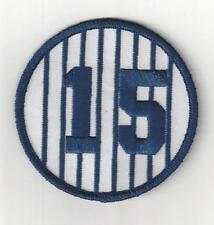"Thurman Munson Retired Number 15 Patch 3"" Round New York Yankees Pinstripes"