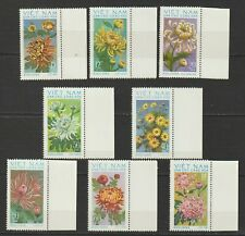 1974 North Vietnam Stamps Chrysanthemums Flowers Sc # 731 - 738 MNH