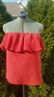 Olivaceous Women's Silk Red Top Strapless Blouse! Size M