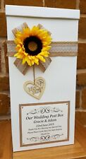 Sunflower Wedding Card Post Box, Wedding Favours, Wedding Gifts, Wishing Well