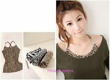 Japan Rhinestone Y Shoulder Knit Cami! Black Zebra