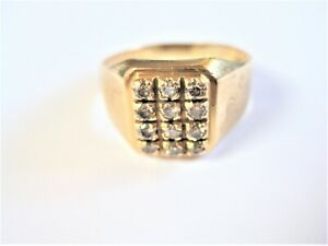 Ring Gold 750 with Diamonds, 3,84 G