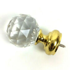 Faceted Acrylic Brass Dummy Doorknob Closet Cabinet Sparkly Princess Boho