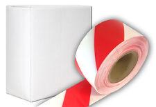 500m Rolle ABSPERRBAND rot-weiß im Karton Flatterband Super Warnband Trassenband