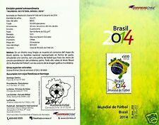 CHILE, SOCCER WORLD CUP BRAZIL 2014, BROCHURE, YEAR 2014
