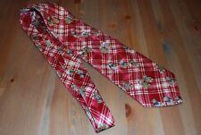 pfiffige Herren-Krawatte mit Teddy-Motiv, Seide, rot-kariert