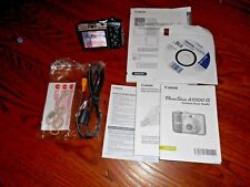 Canon PowerShot A1000 IS 10.0MP Digital Camera Gray/Black BUNDLE ] I Ship Faster