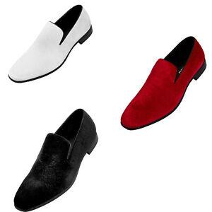 Bolano Jay Men's Paisley Embossed Shoes Designer Velvet Slip On Casual Loafers