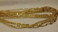 10 GOLD BOX CHAIN NECKLACES