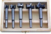 5pc Forstner Drill Bit Set Kitchen Cupboard Door Hinge15,20,25,30,35mm Guarantee
