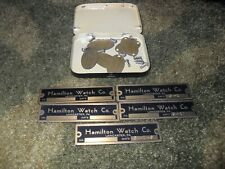 """Vintage Hamilton Watch Co. """"Brass Tags"""" Awesome Rarity !!! L@@K"""