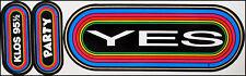YES 80's KLOS Rainbow Concert Bumper Stickers LA Radio Steve Howe Party