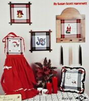 "1985 Counted Cross Stitch Pattern Booklet ""A Tartan Christmas"" 5 Designs 6273F"