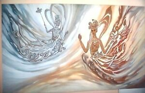 """""""Artistic"""" Original Oil Painting on Canvas """"36 x 60"""" JaNice Interiors Accents"""