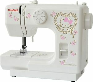 JANOME Sanrio Hello Kitty Electric Sewing Machine Compact KT-35 100V from Japan