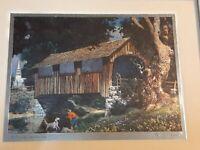 "Paul Detlefsen Foil Prints Framed A Sturdy Landmark Print is 7.75"" x 4.75"""