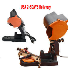 USA ELECTRIC GRINDER CHAIN SAW BENCH SHARPENER MOUNT W/GRIND CHAINSAW WHEEL