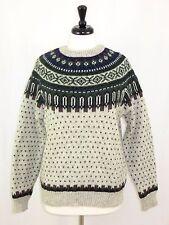 Woolrich Mens Wool Nylon Sweater Nordic Fair Isle Grey Green L