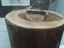 """ Nevada "" Size 9 3/4 Custom Made Coin Ring U.S. State Quarter"