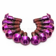 12x Yamaha YZF-R6 R6 99-02 Purple Titanium Front Disc Rotor Bolts, Threadlock