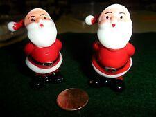 Vintage 2 Plastic Santas with Hands Behind Back