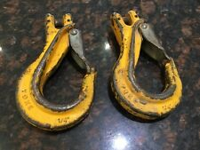 """More details for 2 off lifting chain hooks with latch. stamped yoke 1/4"""""""