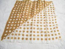 "Vera Neumann Scarf 22"" X 23"" Lovely Warm Brown And White Dots Vera Copyright"