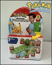 Pokemon Backpack Carry Case Playset Battle Arena Toy Game Pikachu Figure New