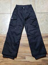 Triple Nickel 555 Ski Snow Board Pants Women's 12 Black Winter Softshell