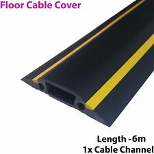 6m x 83mm Heavy Duty Rubber Floor Cable Cover Protector-Conduit Tunnel Sleeve